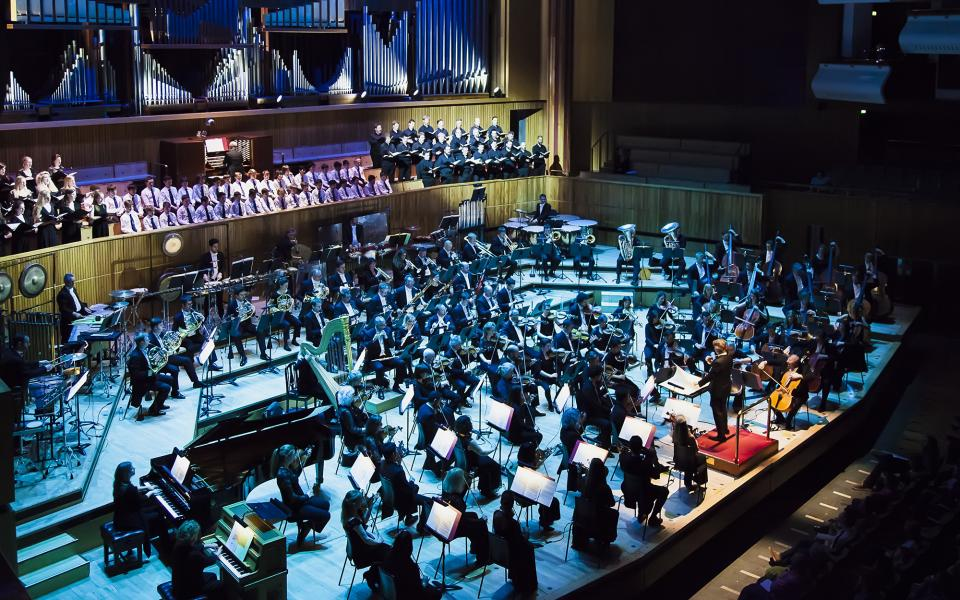 Philharmonia on stage at Royal Festival Hall
