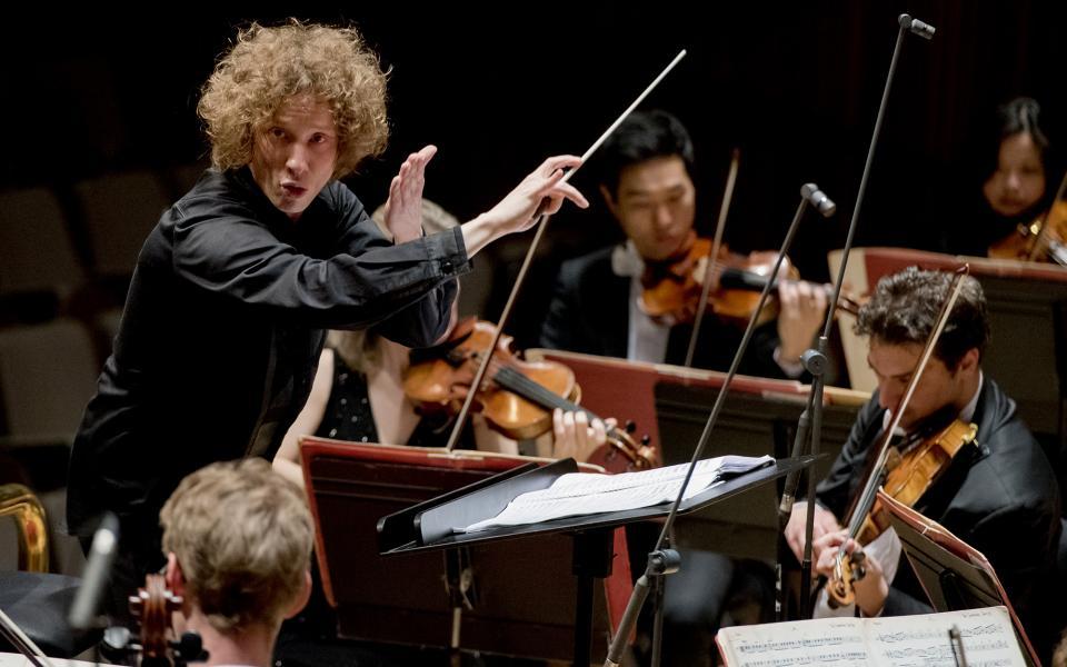 Santtu-Matias Rouvali conducting the Philharmonia