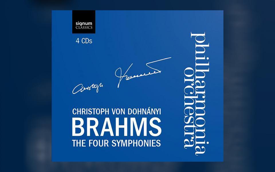 Brahms Four Symphonies CD cover