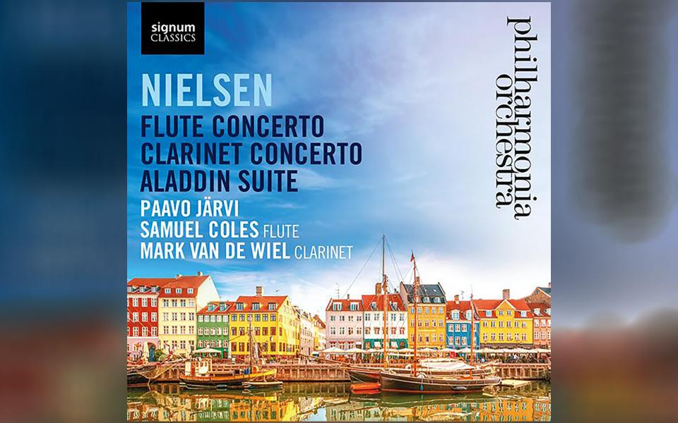 Nielsen: Flute Concerto; Clarinet Concerto; Aladdin Suite CD cover