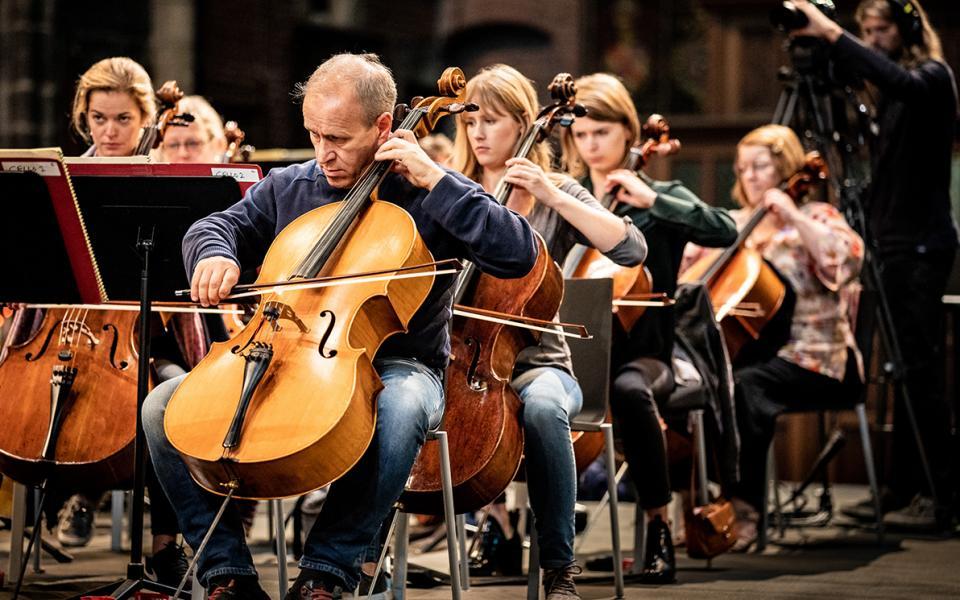 Photo of Philharmonia cellist Timothy Walden