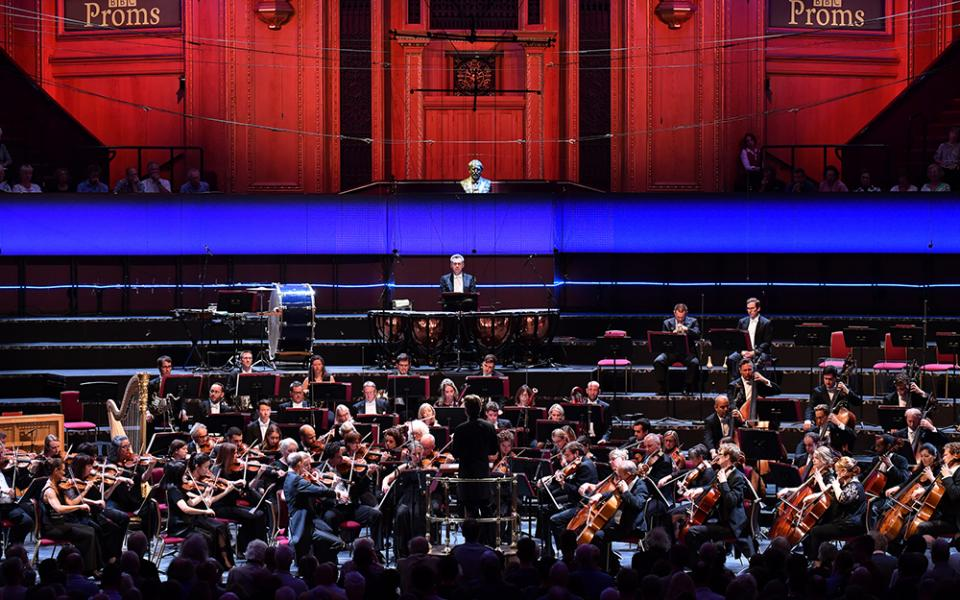The Philharmonia performing at the BBC Proms